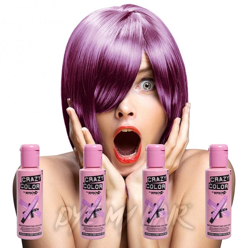 Crazy Color 4 Pack Lavender SemiPermanent Hair Dye