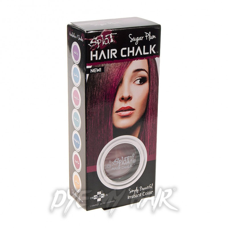 Splat Sugar Plum Temporary Hair Chalk Bright Purple Color Product