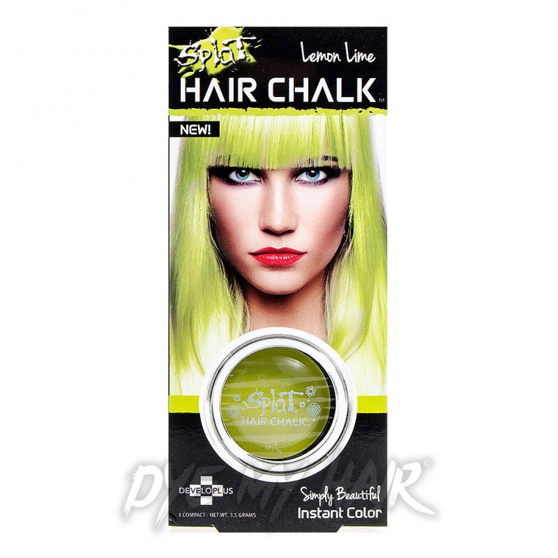 Splat Lemon Lime Hair Chalk Instant Green Yellow Temporary Color