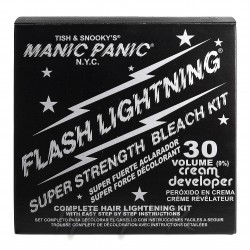 Manic Panic Flash Lightning Bleach Kit Pour Décolorer Vos Cheveux (30 Volume Cream Developer)