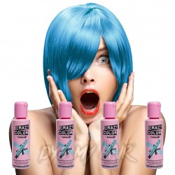 Crazy Color Azul Chicle Tinte Capilar Semi-Permanente (4 x 100ml)