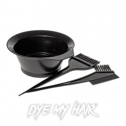 3 Piece Dye Bowl & Brush Set (Black)