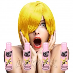 Crazy Color Pack De 4 Colorations Semi-Permanentes  100ml (Canary Yellow)