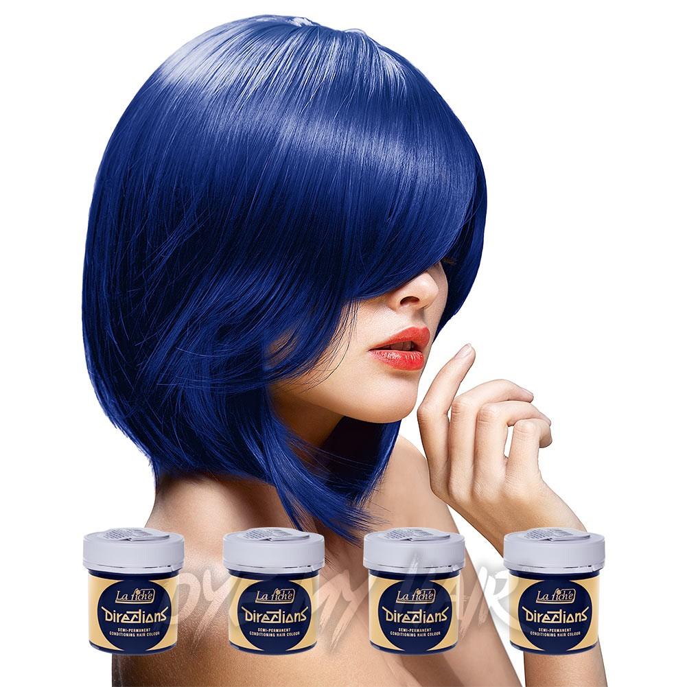 Navy Blue Hair Dye Semi Permanent Midnight Color Dark Blue Dye
