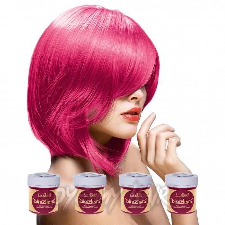 La Riche Directions Pack De 4 Colorations Semi-Permanentes  (Flamingo Pink)
