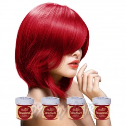 La Riche Directions Poppy Red Semi-Permanent Hair Dye (4 x 88ml)