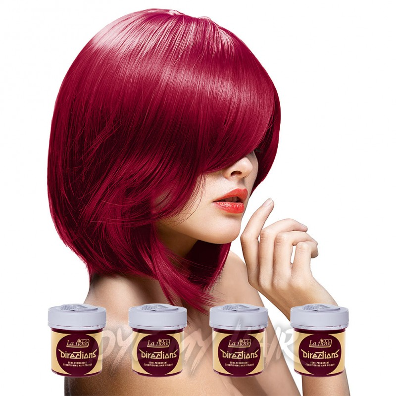 directions rose red semi permanent hair dye 4 pack la riche colour. Black Bedroom Furniture Sets. Home Design Ideas