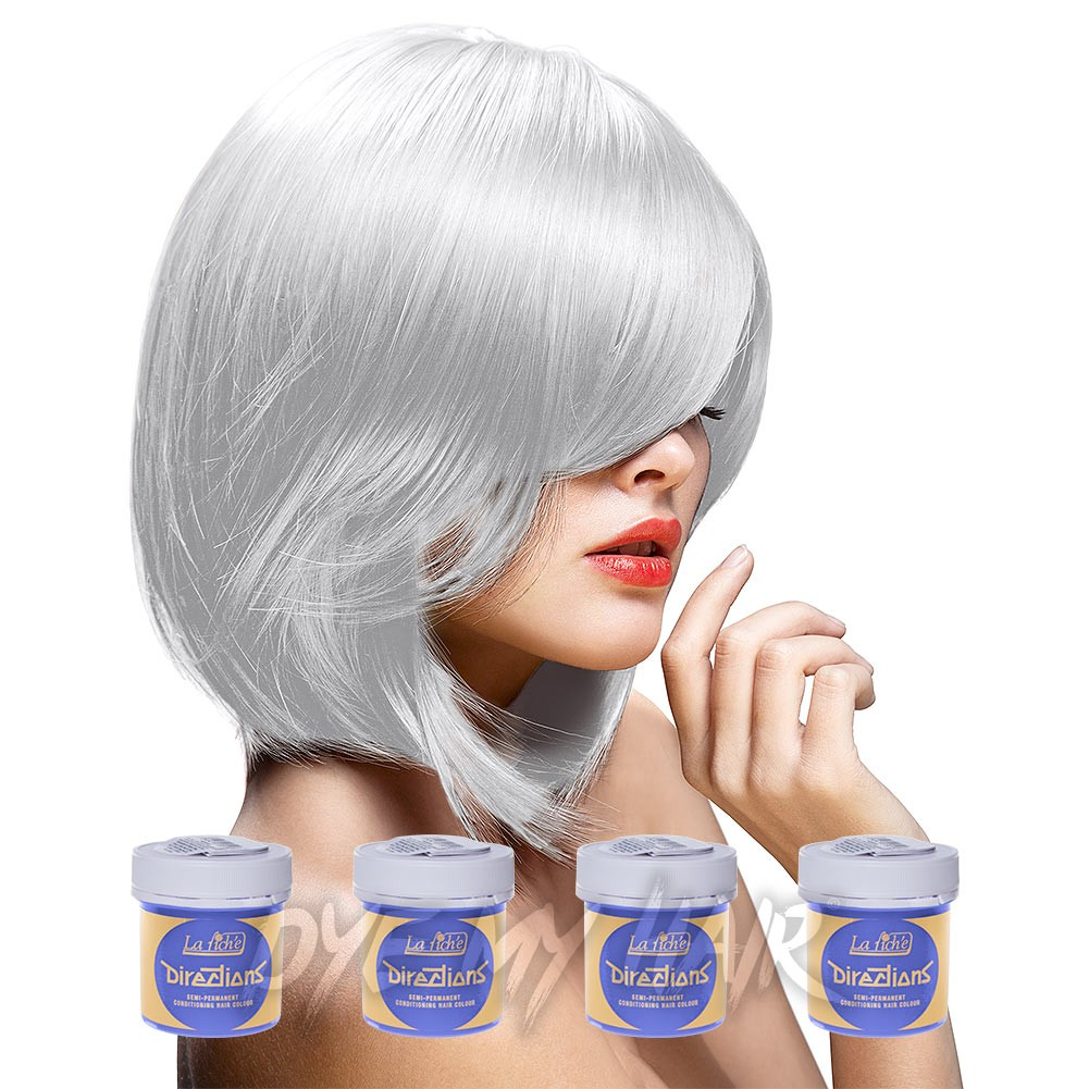 White Hair Dye, Semi Permanent Icy Blonde Color, White Hair Toner