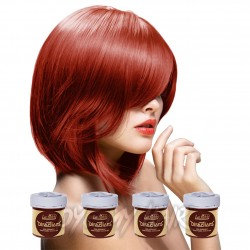 Pacco Da 4 Tinture Colorate Per Capelli La Riche Directions Rosso - Flame Red (4 x 88ml)