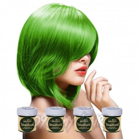 Pacco Da 4 Tinture Colorate Per Capelli La Riche Directions Verde - Spring Green (4 x 88ml)
