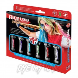 Paintglow Rebellious Colours Harlequin Hair Streaks Kit (Multicoloured)