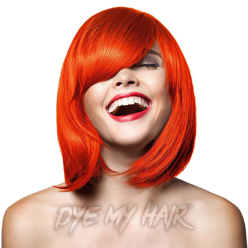 Orange Hair Dye Semi Permanent Neon Dye Bright Auburn Hair Color
