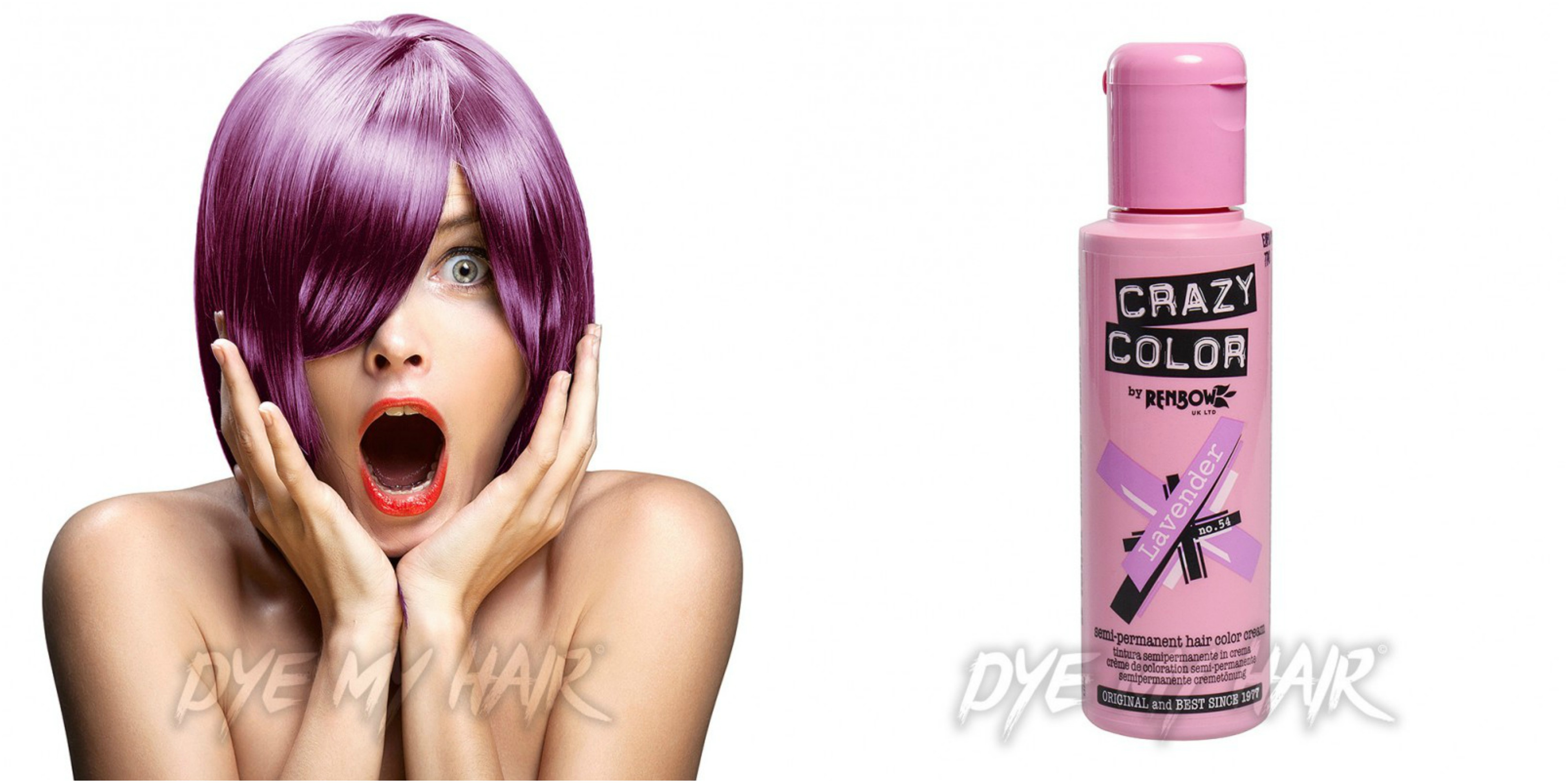 Crazy Color Lavender Purple Hair Dye