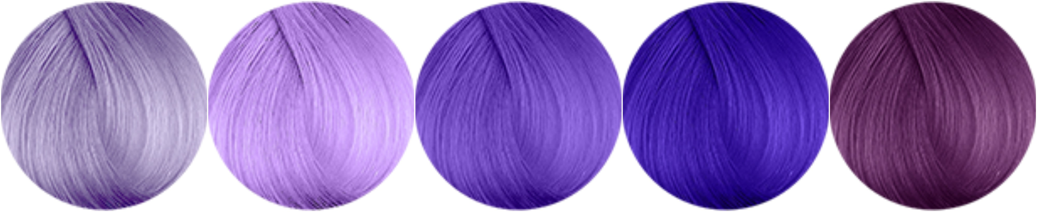 Purple Hair Dye Colour Pallette