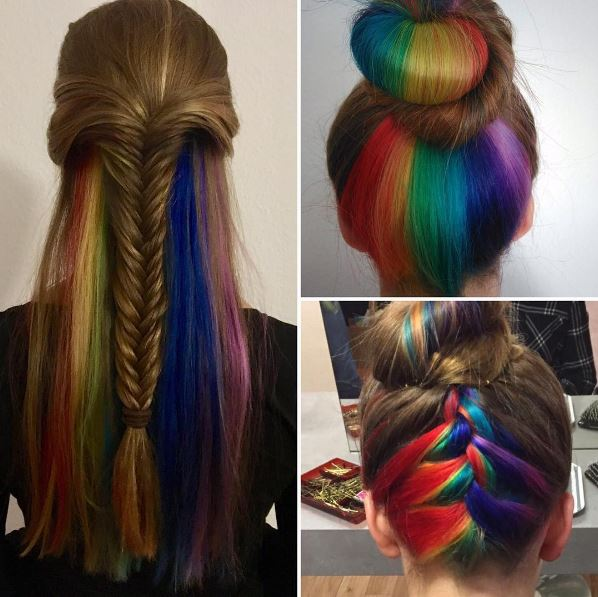 How To Get Rainbow Colour Hair Tips